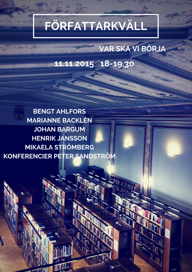 Författarkväll.Lovisa11.11.2015